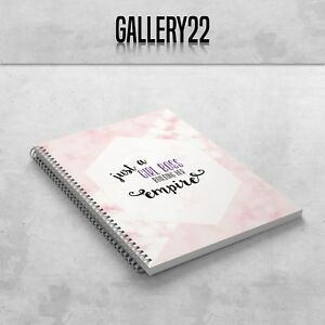 Just A Girl Boss Building Her Empire Notebook A5 Gift Stationery Notes Pink Gold