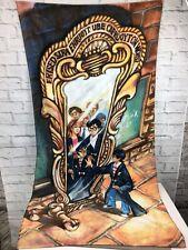 Vtg Harry Potter Collectible Warner Bros. 2000 Wizard Beach Towel Mirror Erised