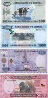 UNC RWANDA SET 500, 1000, 2000, 5000 Francs (2013-15) P-38 P-39 P-40 P-41