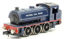 Blue N Scale Model Train Locomotives