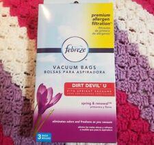 Febreeze Vacuum Cleaner Bags Dirt Devil U 3 Pack Scented Spring Renewel Premium