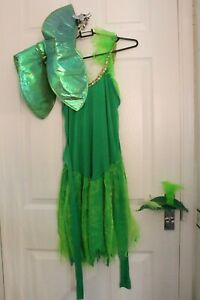 Ex Hire Film Tinkerbell Large Dress with Wings Fancy Dress Costume