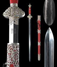 Feather grain steel blade Ashtamangala Eight Auspicious treasure sword #092