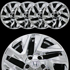 "4 New 2015 2016 Honda CRV 17"" Chrome Wheel Skins Hub Caps Full Alloy Rim Covers"