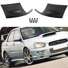 FIT 04 05 SUBARU IMPREZA WRX PU ADD-ON FRONT BUMPER LIP COVER CAP SPOILER 2 PCS