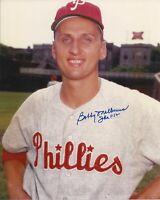 Bob Malkmus 1960 1961 1962 Philadelphia Phillies Autographed 8x10 Photo COA