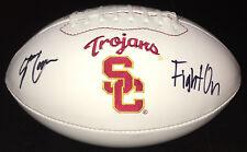 PSA/DNA USC #7 STEPHEN CARR Signed Autographed Logo Football Helmet FIGHT ON!!