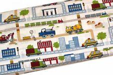 Toller Baumwollstoff  Baustelle, Bagger, Polizei, Baufahrzeuge, Stadt, ab 50cm