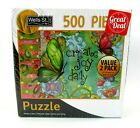 2 Puzzle Value Pack Wells St. By Lang 500 Pc Happy Camper and Create Joy Daily