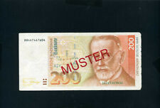 Germany Federal Rep 200 mark 1989 Specimen - VF