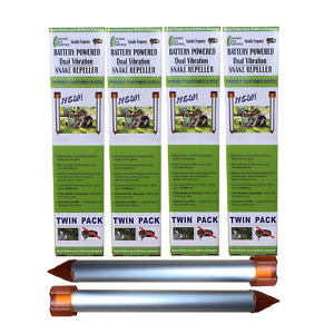 Enviro Bug Control - Battery Powered Snake Repeller - Large House Block - 8 Pack