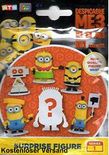 Ich - Einfach Unverbesserlich 3 Minions Minifiguren 5cm Surprise Pack (zufällig)