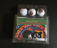 KISS Rare Golf Balls And Towel Sealed ROCK AND ROLL OVER Simmons Frehley Criss