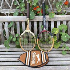 Vintage 1980s Tennis Rackets Bundle SLAZENGER CHALLENGE 100 + DONNAY BORG NR 1