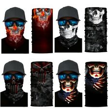4pc Skull Sun Mask Shield Neck Gaiter Headband Bandana Du Rag  Cap Fishing Flags