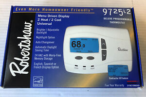 9725i2 Robertshaw Deluxe Universal Programmable Thermostat 3 Heat 2 Cool SO BLUE
