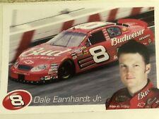 "Dale Earnhardt Jr. #8 Budweiser Sticker 7"" x 11"" New Nascar"