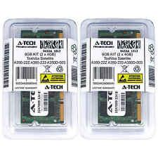 8GB KIT 2 x 4GB Toshiba Satellite A350-22Z A350-233 A350D-003 Ram Memory