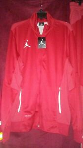 Air Jordan Men Dri Fit Tracksuit Large red and white.