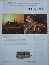 10/2006 PUB THALES COMMUNICATIONS HUMMER AN/VRC-111 AN/PRC-148 ORIGINAL AD