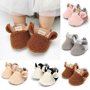 2020 Brand New Toddler Newborn Baby Crawling Shoes Boy Girl Lamb Slippers