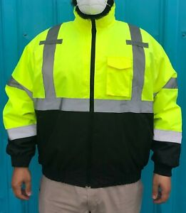 RADNOR 2X Hi-Visibility Yellow And Black Polyester/Oxford 2-in-1 Jacket