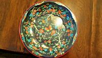 Vintage Daher Decorated Metal Ware England Chintz Pattern Black, Multi-color