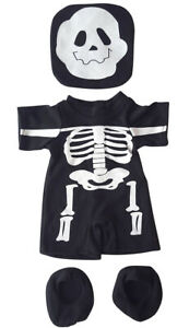 """Skeleton Costume Outfit Teddy Bear Clothes Fits Most 14"""" - 18"""" Build-A-Bear and"""