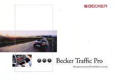 Prospekt Becker Traffic Pro 9 2001 Broschüre brochure Autoradio car HiFi CD Navi