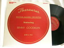 BENNY GOODMAN Thesaurus Rhythm Makers 1935 Vol 1 Gene Krupa Pee Wee Erwin LP