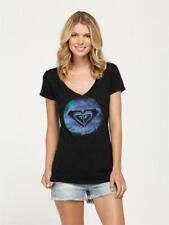 ROXY~NWT~Ocean Time SV~T-Shirt~Black~V-Neck~100% AUTHENTIC~SZ*XS*