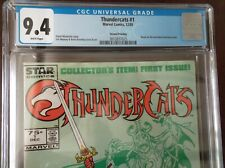 THUNDERCATS #1 CGC 9.4 1985 RARE SECOND PRINTING 75 CENTS WHITE PAGES 1ST APP