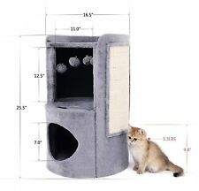 Height Cat Tree House Condo,Cat Activity Tower wi/ Scratching Post and Board