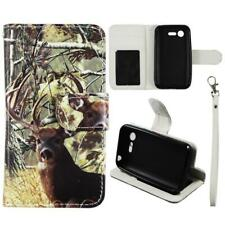 Case for LG Optimus Zone 2 Leather Wallet Pouch Flip Cover Credit ID Card Pocket