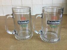 Heineken 1/2 pint Glass Tankards X 2