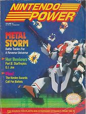 #22  NINTENDO POWER video game magazine METAL STORM