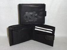 NORTH CAROLINA TAR HEELS   Leather BiFold Wallet    NEW   black bf  snap