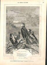 En automne Oiseaux Poème de Victor Hugo Tristesse d'Olympio  ILLUSTRATION 1882