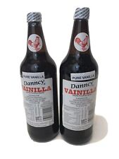 Glass Two (2) Danncy Pure Mexican Vanilla Extract - Dark (1 Liter - Each)