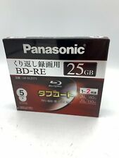 Panasonic Blu-ray 25GB 2x blank BD-RE Blu ray 5 Discs Blank Media F/S w/Track#