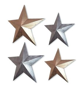 Hanging star wooden wall art gold or silver 39 or 52cm vintage style-NEW
