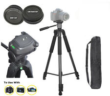 "72"" TRIPOD FOR NIKON D3200 D5100 D3100 D300S D5000 D3000 + BODY & LENS REAR CAP"