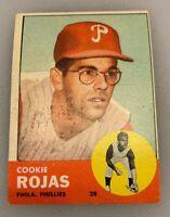 1963 Topps # 221 Cookie Rojas Baseball Card Philadelphia Phillies
