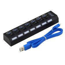 7Port USB 3.0 Hub Split Independent On/Off Switch For Windows XP/Vista/7/8 MAC x