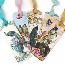 NEW Bookmarks Birds -Peacock,Bluebird,-Book Lover- Diary-School Teacher Gift