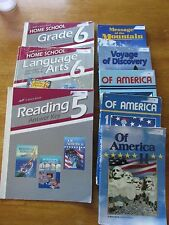 Lot of A Beka 5 and 6 Books Language Arts Lesson Plans, Readers, of America