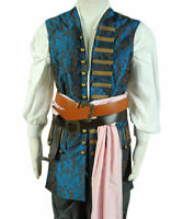 Pirates of The Caribbean 4 Jack Sparrow Cosplay Costume Jack Sparrow Vest Only