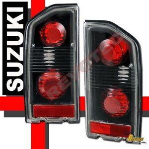 88-98 Suzuki Sidekick Black Tail Lights Lamps 1 Pair 89 92 93 94 96