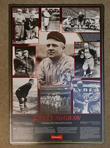 "John J McGraw New York Giants manager 17"" x 25"" poster"