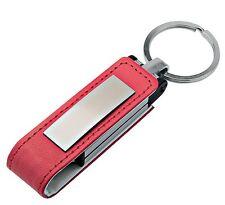 PENDRIVE USB 8 GB PELLE ROSSA PERSONALIZZATA con INCISIONE - ideale per Laurea